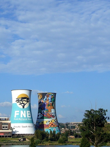 Soweto in Johannesburg, South Africa - Cooling towers of a former electricity plant