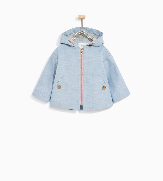Image 2 Of Hooded Trench Coat From Zara Mode Enfant