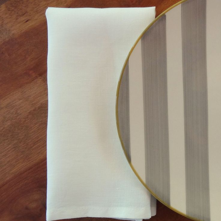 Oyster White Linen Napkin     Vence Collection