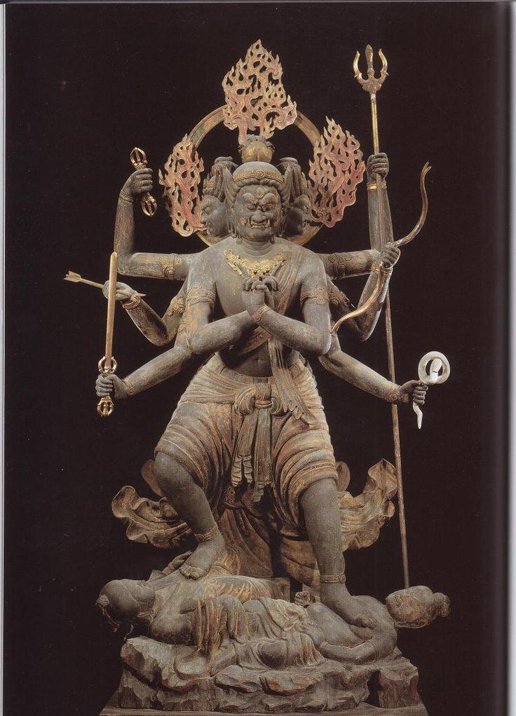 京都 東寺。降三世明王像。