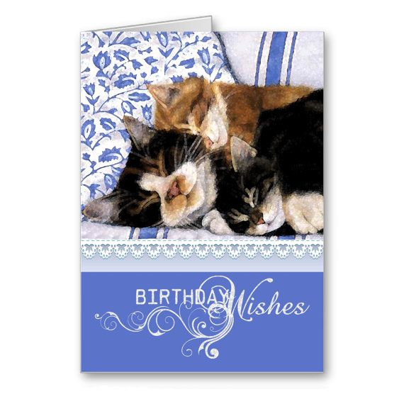 Greetings CardsHappy Birthday Cards Tree Funny by TheLazyCatStudio, $3.50