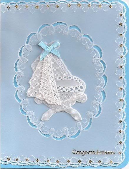 3D Parchment lace card