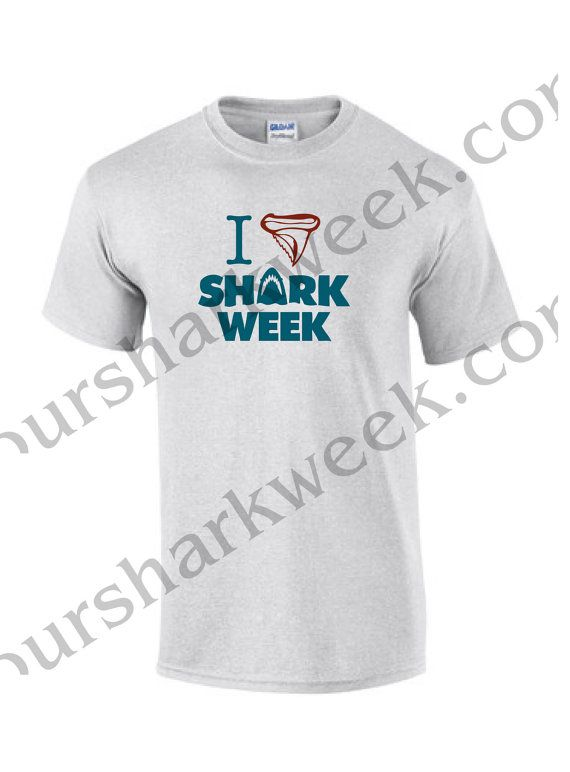 Shark Week Tshirt  T shirt- I Tooth Shark Week LARGE