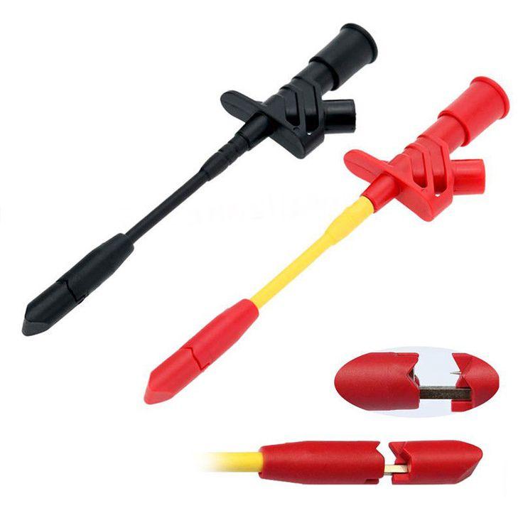 10A Professional Piercing Needle Test Clips Multimeter Testing Probe By Mayitr  #Mayitr