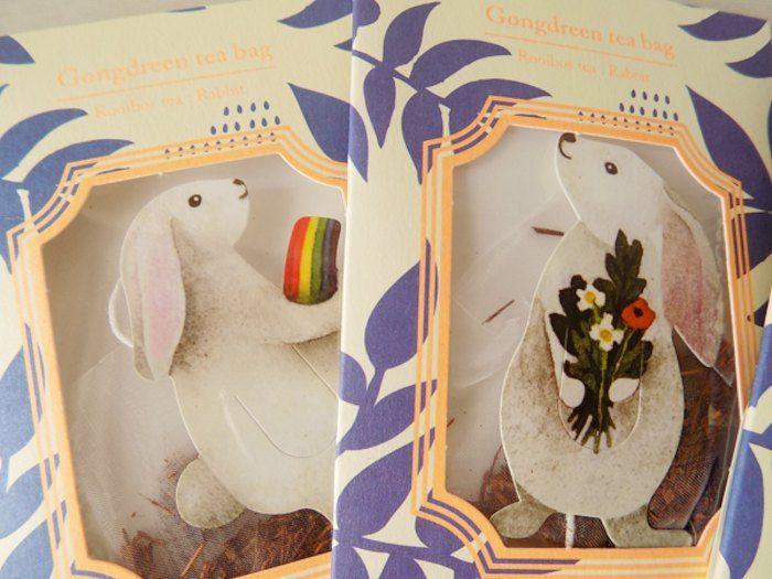 【楽天市場】Gongdreen tea bag「 ROOIBOS TEA - RABBIT tea bags」6袋入りティーバッグ プチギフト お返し 紅茶 お礼 結婚式 小分け ブックマーク うさぎ ラビット:CozyMomかわいいギフトと雑貨 https://item.rakuten.co.jp/cozymom/tby170826101/  imgrc0055780128.jpg (700×525)