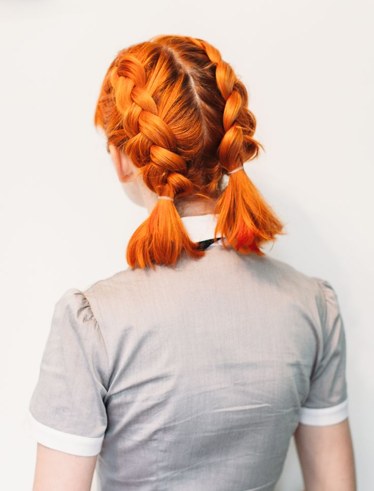 Double Dutch Pigtails for Short Hair | A Beautiful Mess | Bloglovin'