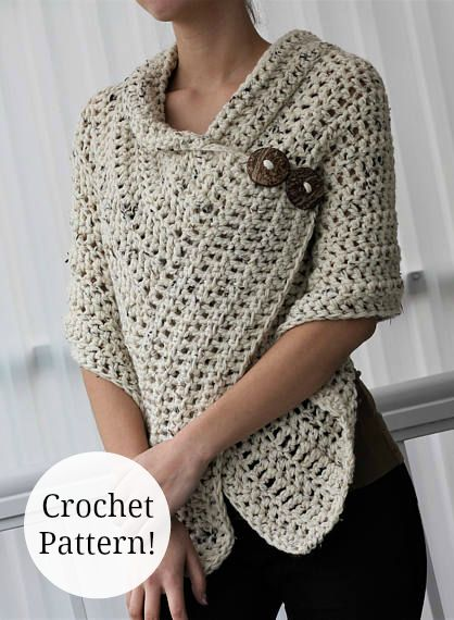 Love, love, love this easy crochet shawl!! Perfect for spring days ahead. #crochet #pattern #shawl #wrap #women #fashion #ad