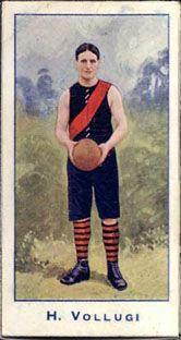 1904 Standard Cigarettes VFL trading card featuring Essendon player Hercules Vollugi.