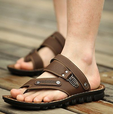 Roman Mens Flip Flops Slippers casual Retro Sandals Beach Gladiator Shoes Size