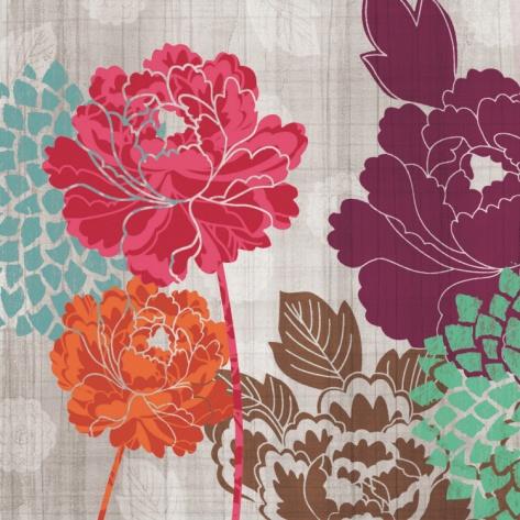 Peony Patterns I by Tandi Venter. Art print from Art.com.
