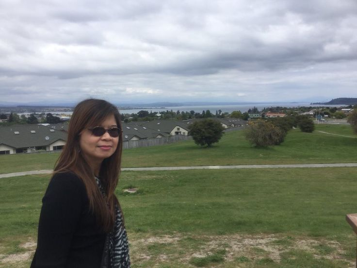 Overlooking the whole of Taupo, New Zealand