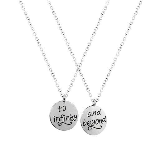 Infinity Best Friends 2 PC Chain Charm Necklace SET - GoGetGlam