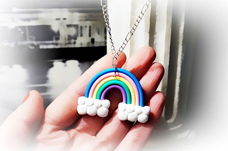 Hippie hippies clothing rainbow necklace psychedelic trance boho chic pendant festival costumes neon anniversary birthday gift