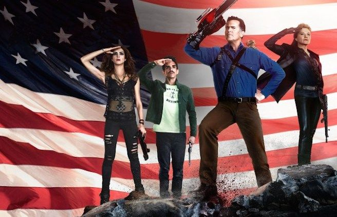 Ash vs. Evil Dead gets some patriotic new artwork for season 2, as well as a new promo clip from the Blu-Ray.