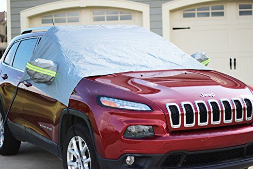 Premium Windshield Snow Cover - Ultra Durable Weatherproof Design - Protects Windshield, Wipers, and Mirrors - (2017 Model)