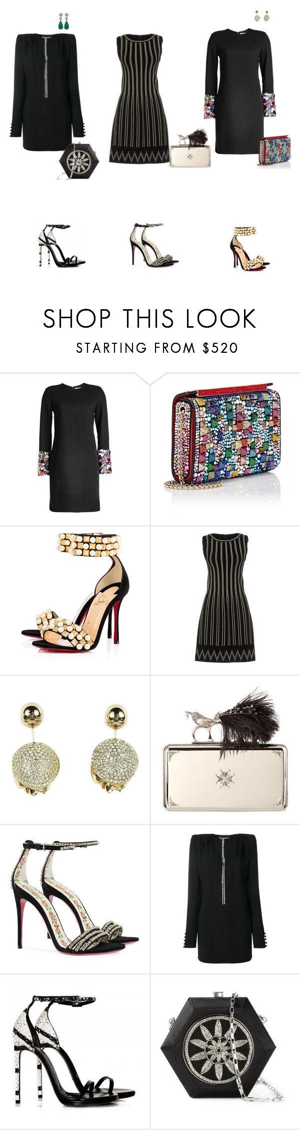 """""""Untitled #532"""" by jimle ❤ liked on Polyvore featuring Victoria, Victoria Beckham, Christian Louboutin, Alaïa, Christian Dior, Alexander McQueen, Gucci and Yves Saint Laurent"""