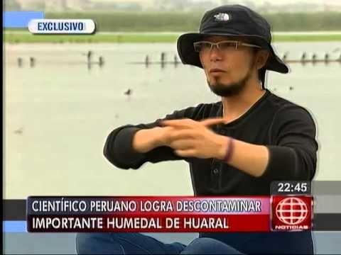 América Noticias: Científico peruano logró descontaminar importante laguna de Huaral