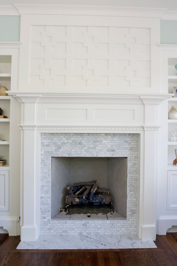 fireplace: Mantels, Marbles Fireplaces, Fireplaces Tile, Living Rooms, Marble Tile, Carrara Marble, Fireplaces Surroundings, Fireplaces Ideas, Marble Fireplaces