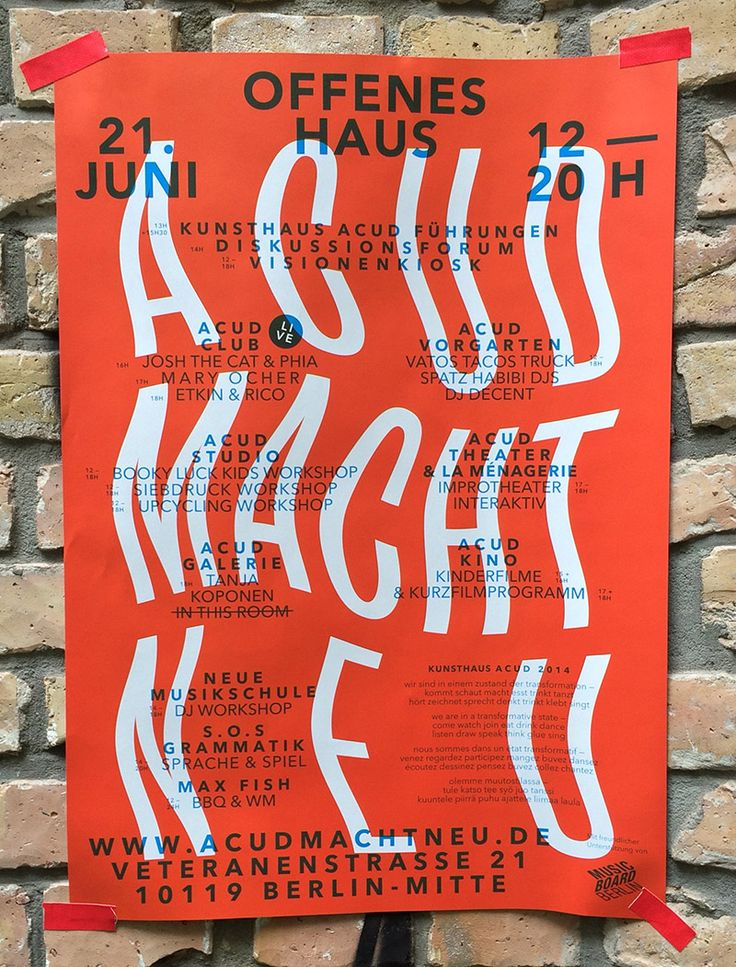 "postersofberlin: "" Offenes Haus Kunsthaus Acud – found in Prenzlauer Berg """