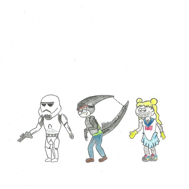 Día del Orgullo Friki. #DíaDelOrgulloFriki #Alien #SailorMoon #Stormtrooper