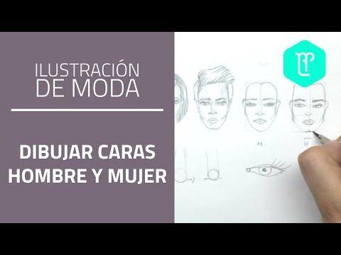 Cómo dibujar caras para figurines de moda: diferencias hombre y mujer - YouTube
