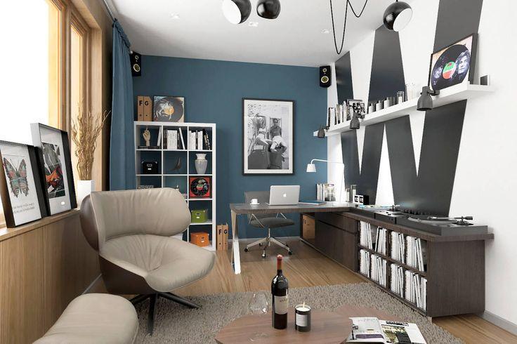 스칸디나비아 서재 / 사무실 by ONE STUDIO