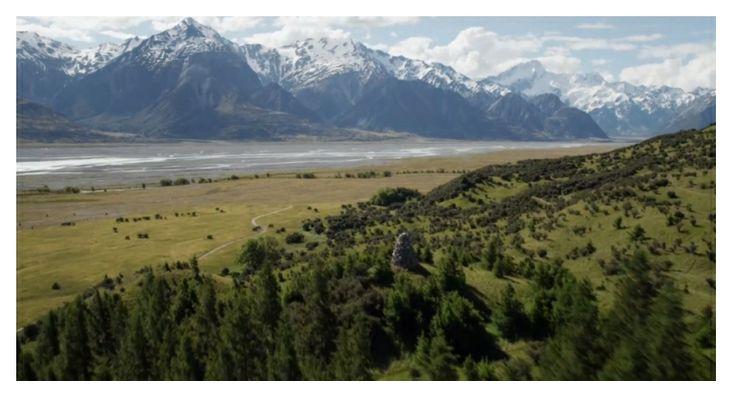 The landscape of Twizel in New Zealand's South Island.