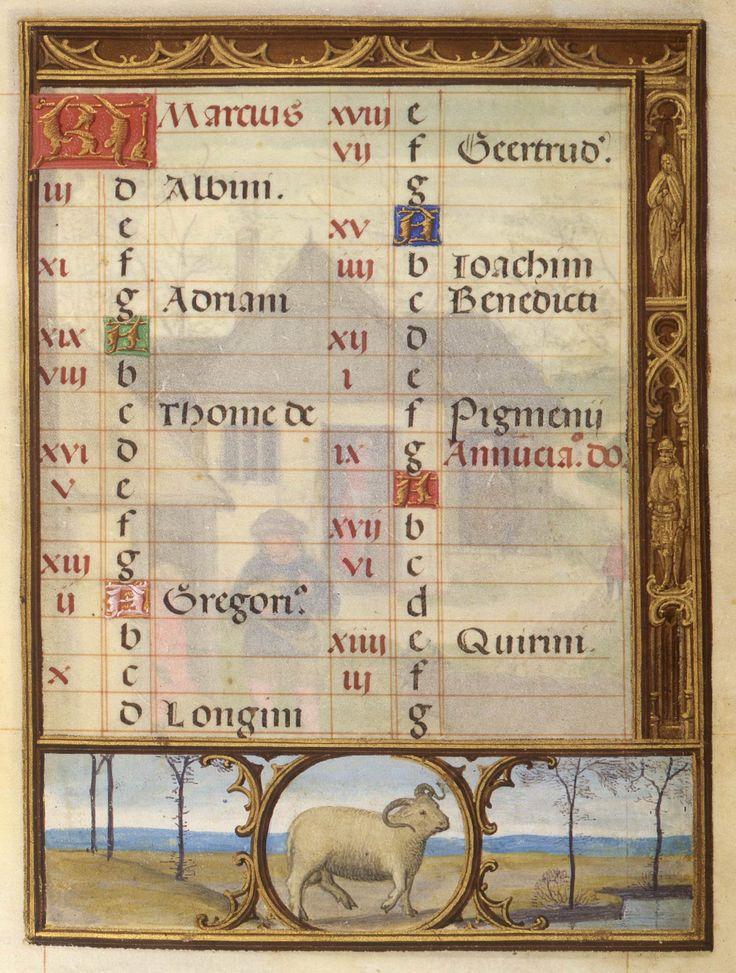 Aries | Da Costa Hours, in Latin | Illuminated by Simon Bening | Belgium, Bruges | ca. 1515 | The Morgan Library & Museum
