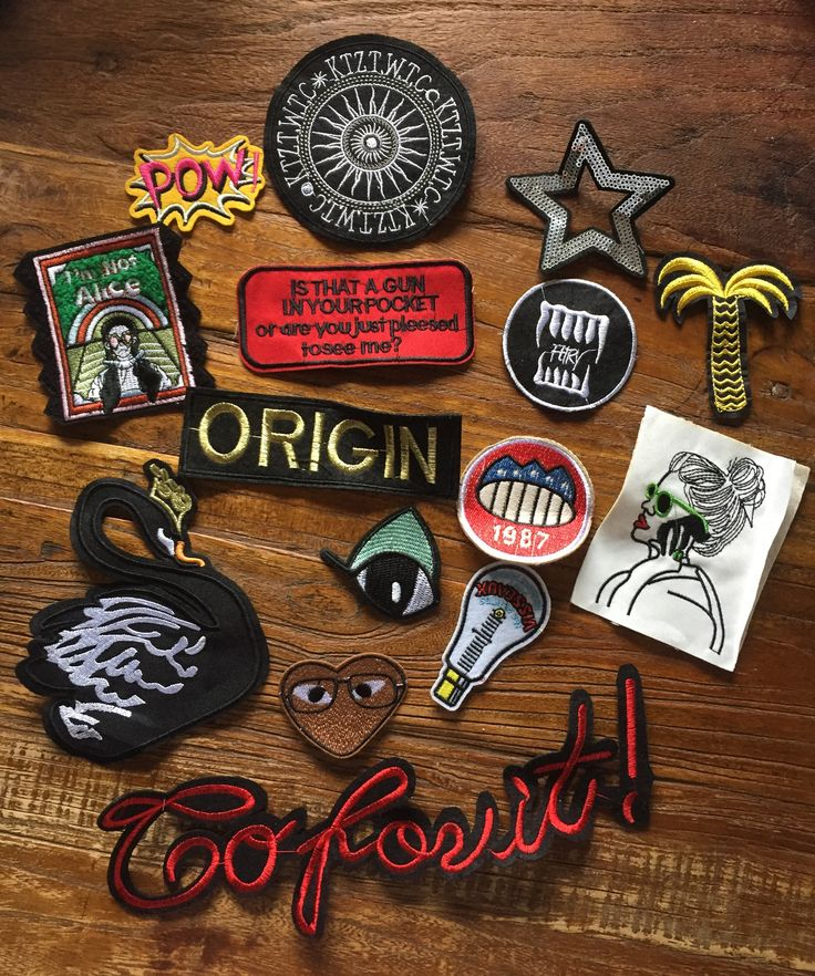 DIY Project 15 Pieces Statement Embroidered Bulks Patches