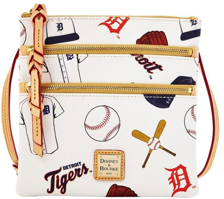 Dooney & Bourke MLB Tigers Triple Zip Crossbody