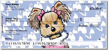 Kiniart Yorkshire Terrier Checks ~ several designs ~ http://www.doggiechecks.com/Yorkshire-Terrier.php