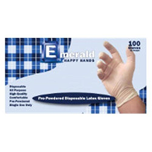 Emerald HH102 Happy Hands Powdered Latex Disposable Gloves Large Case of 1000 RMG4H4E54 E4R46T32527725 -- You can find more details by visiting the image link.