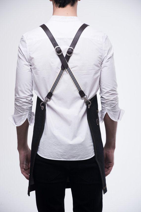 Delantal de pecho dos bolsillos del dril de por ARC1designLab