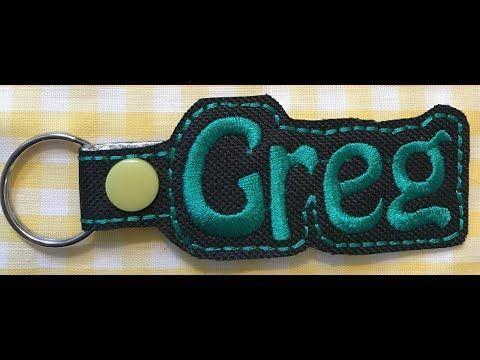 "Sew What Pro - Creating a Custom ""Name"" Snap Tab Key Fob - YouTube"