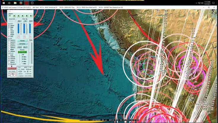 7/27/2017 -- West Coast USA Earthquake Update -- California, Oregon, Was...
