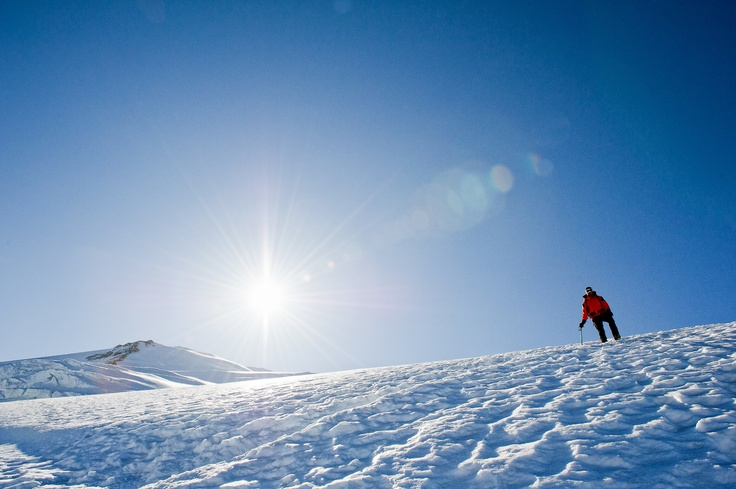 Adam Zawadzki, a Polish alpinist, as seen on the descent from the summit of Mont Blanc during the summer traverse of the Europe's highest summit in Chamonix, France