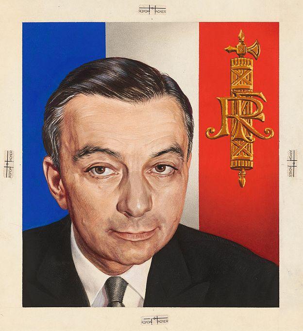 Georges Bidault by Boris Chaliapine (1904-1979)
