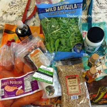 Trader Joe's Items for Salad トレジョのゴートチーズとローストスイートポテトの簡単サラダ  #トレジョ #ローストスイートポテト #ゴートチーズ #サラダ #トレーダージョーズ #traderjoes #salad