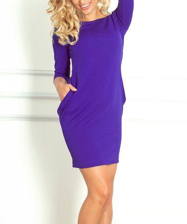 Look at this #zulilyfind! Royal Blue Pocket Sheath Dress #zulilyfinds
