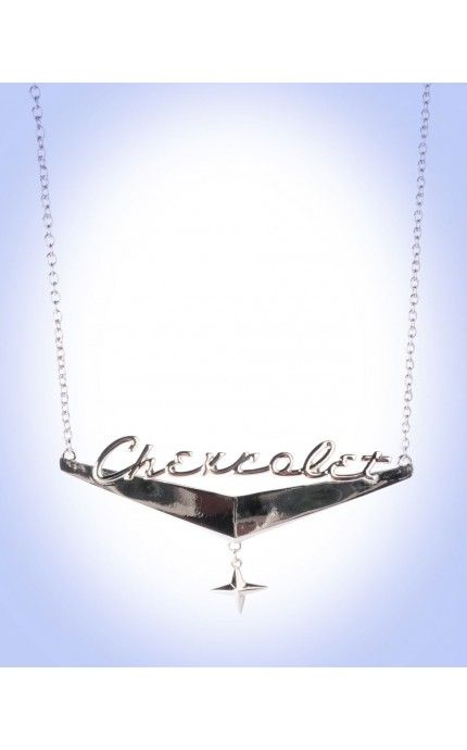 My Cruise Nite wish!! Pinup Girl Clothing- GM Chevrolet Chrome Necklace | Pinup Girl Clothing