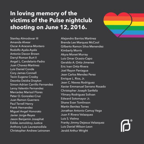 We mourn. We remember. We stand with the LGBTQ community against hate and violence.