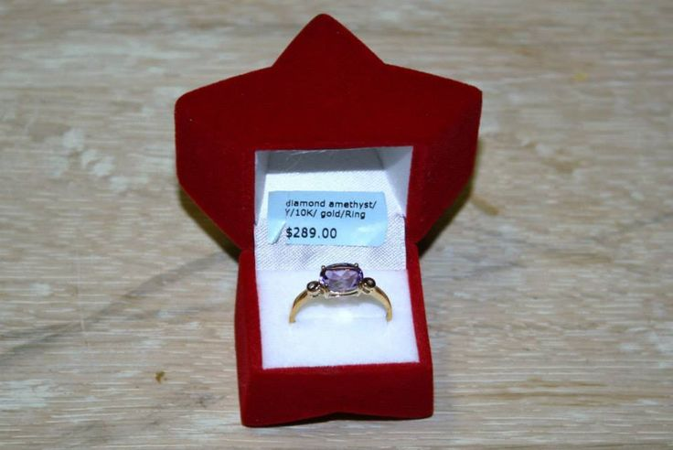 Charming Ring with 1.14ctw Precious Stones Genuine Diamonds and Amethyst  | eBay