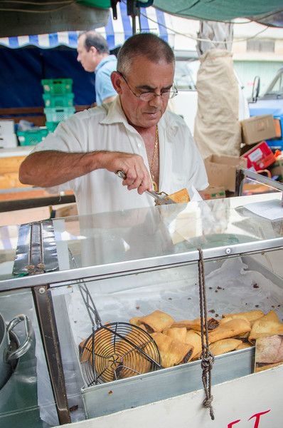 Imqarat, a deep fried pastry filled with sweet date paste. A popular street food in Malta.