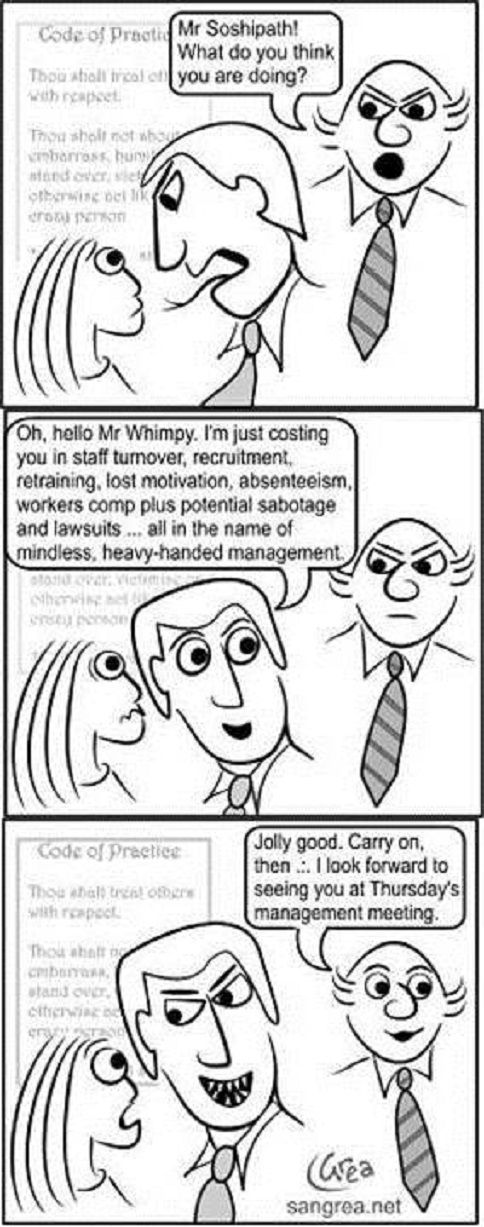 """A lot of companies that have a workplace bully  in their workforce will actually condone their behavior. Why would they do this? Several reasons. They shy away from confrontation. The bully is very productive and they don't want to lose that. Or, they simply aren't aware of the bully's behavior. You can """"Rise Above The Workplace Bully"""" Here==> http://workplace-bully.com"""
