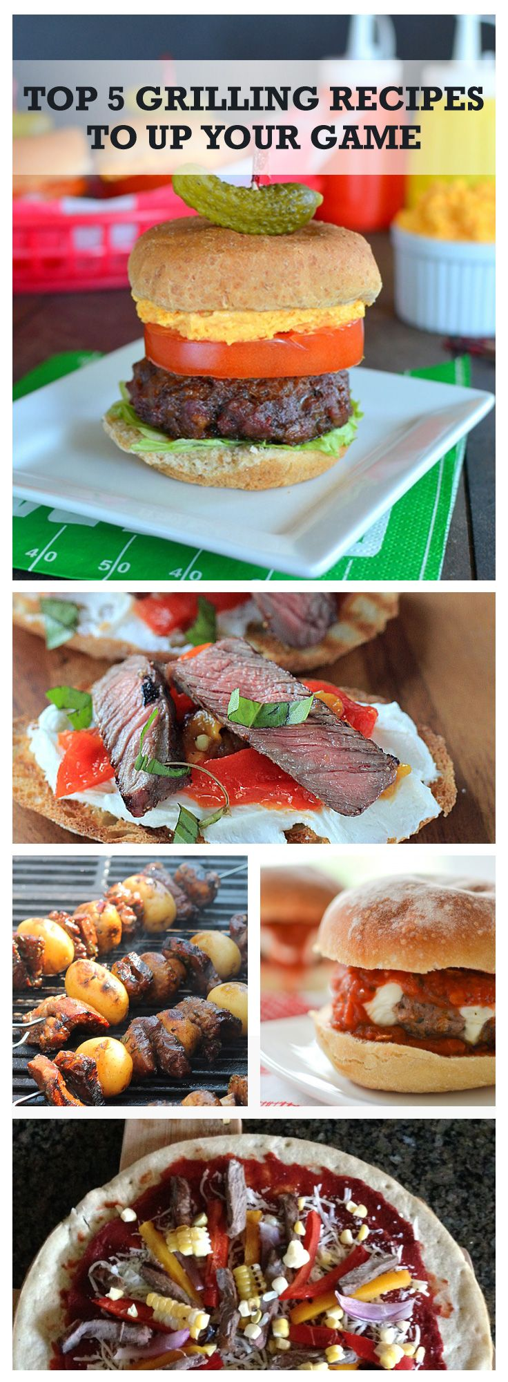 There are so many delicious ways to grill on game day! Try our top 5 grilling recipes from sliders to kabobs to grilled fajita pizza and more! It all starts with Walmart beef and Kingsford® Charcoal from your local Walmart.