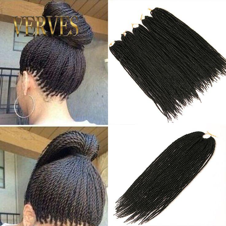 6 stuk 30 Strengen Crotchet Vlechten Ombre Kanekalon Vlechten Haar Gehaakte Vlechten Doos Vlechten Hair Extensions Senegalese Twist Haar