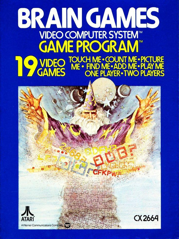 BRAIN GAMES ATARI VIDEOGAME VIDEOGIOCHI RETRO GAME VIDEO COMPUTER SYSTEM CARTRIDGE CARTUCCE