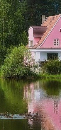 on the Lake .. love the pink!