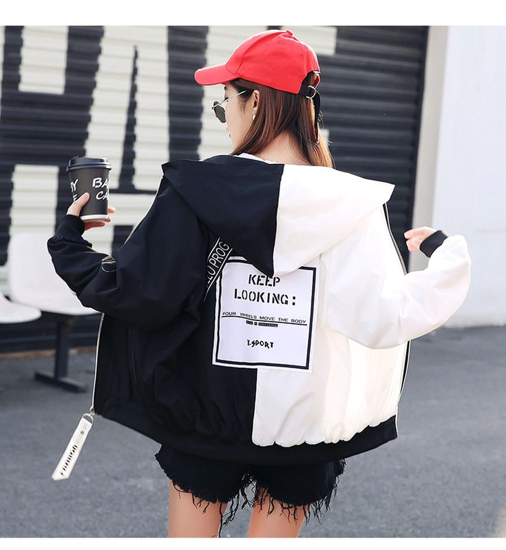 Jackets Women Loose Patchwork BF Fashion Harajuku