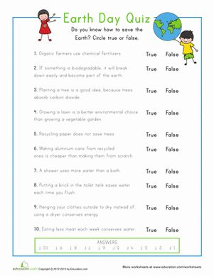This Earth Day quiz family and friends with this true or false questionnaire. It's all in good, informative, fun!